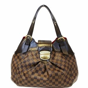 LOUIS VUITTON Sistina GM Damier Ebene Shoulder Bag